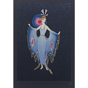 "ERTE (Romain de Tirtoff ) (Russian/French 1892- 1990) Closed Limited Edition, ""Twilight"" Signed and Numbered, c. 1987"