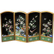 INABA  Signed Cloisonne Table Top Folding Screen, c. 1930s