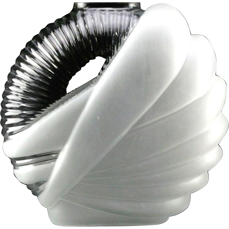 Palace Size Art Deco Ovoid Form Art Glass Vase, From Significant Palm Beach Estate