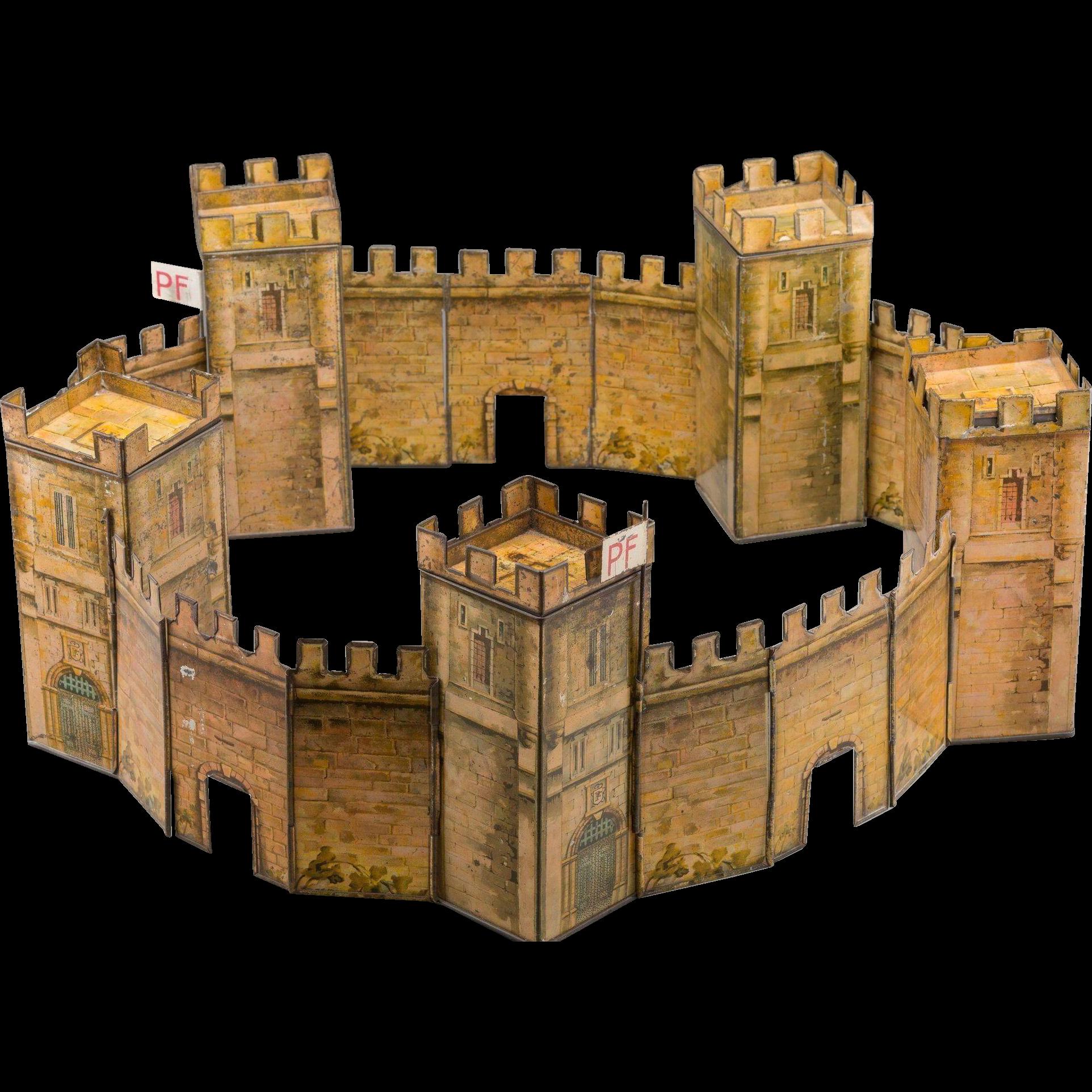 Peek Freans Quintuple Castle Biscuit Tin, circa 1923-1927
