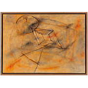 "JOSE VENTO RUIZ (Spanish, 1925 - 2005) -""Homenaje a Sengal"" Original Signed Oil On Canvas"
