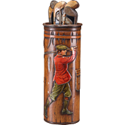 MacFarlane Lang & Co. Golf Bag Biscuit Tin, Circa 1913 - VERY RARE!