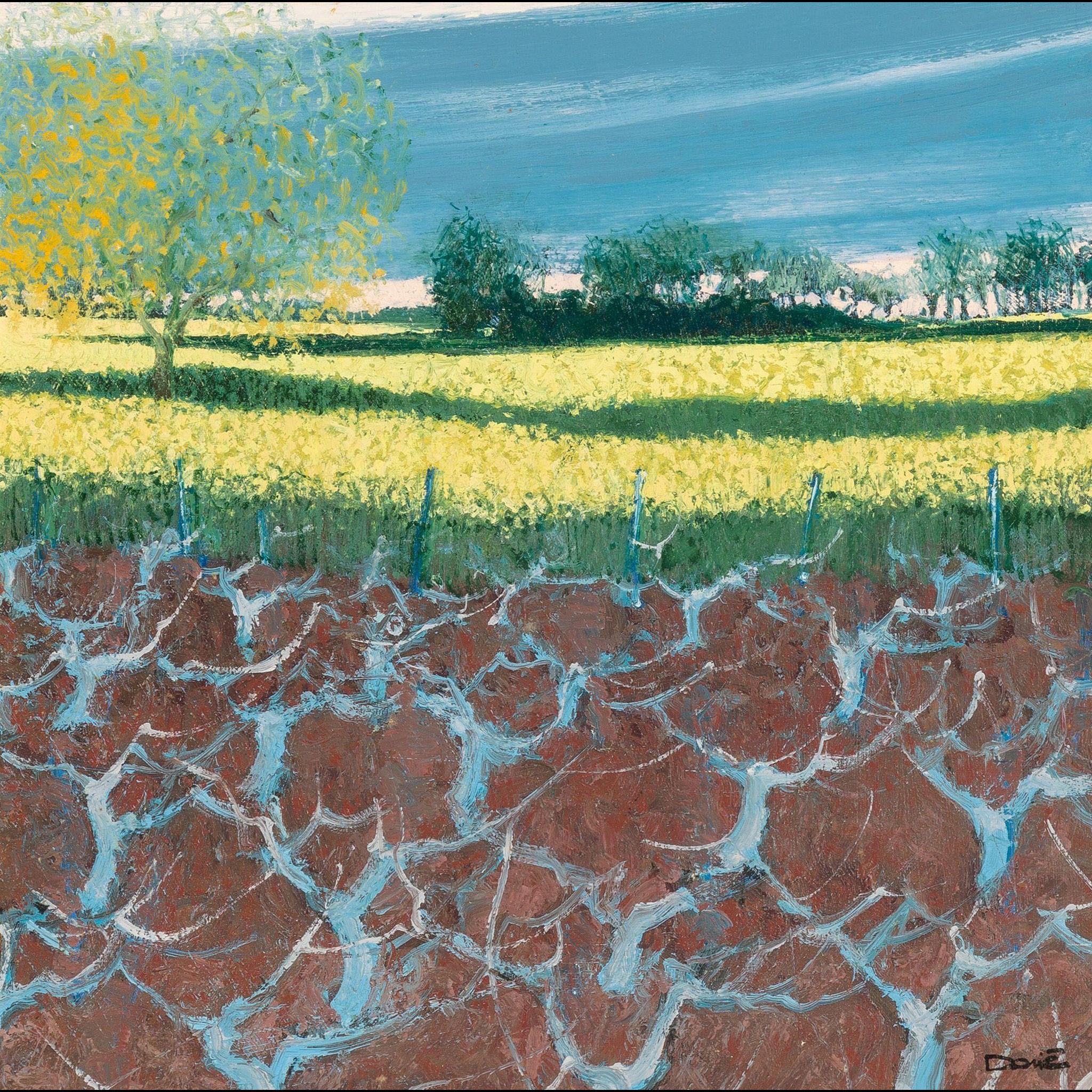 "DOMINIQUE DORIE (French, born 1958) Original Signed Oil On Canvas ""Ceps Bleus"""