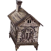 JUDAICA Sterling Silver House With Door That Opens And Closes