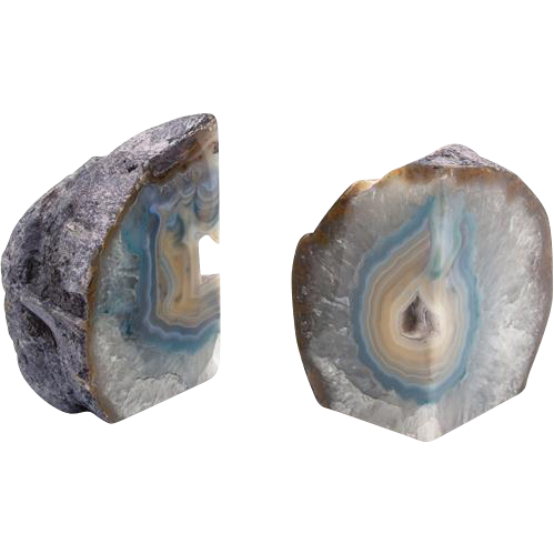 Pair of Polished Geode Bookends