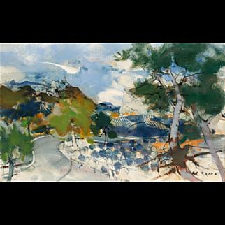"""MICHEL RODDE (French, 1913 - 2000) - Signed Original Oil On Canvas """"La Nouvelle Route"""""""