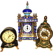 THREE Decorative Vintage Clocks