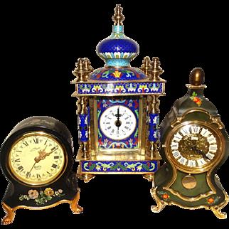 THREE Decorative Vintage Clocks