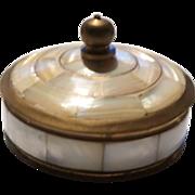Mother of Pearl  Lidded Trinket Box or Dresser Box