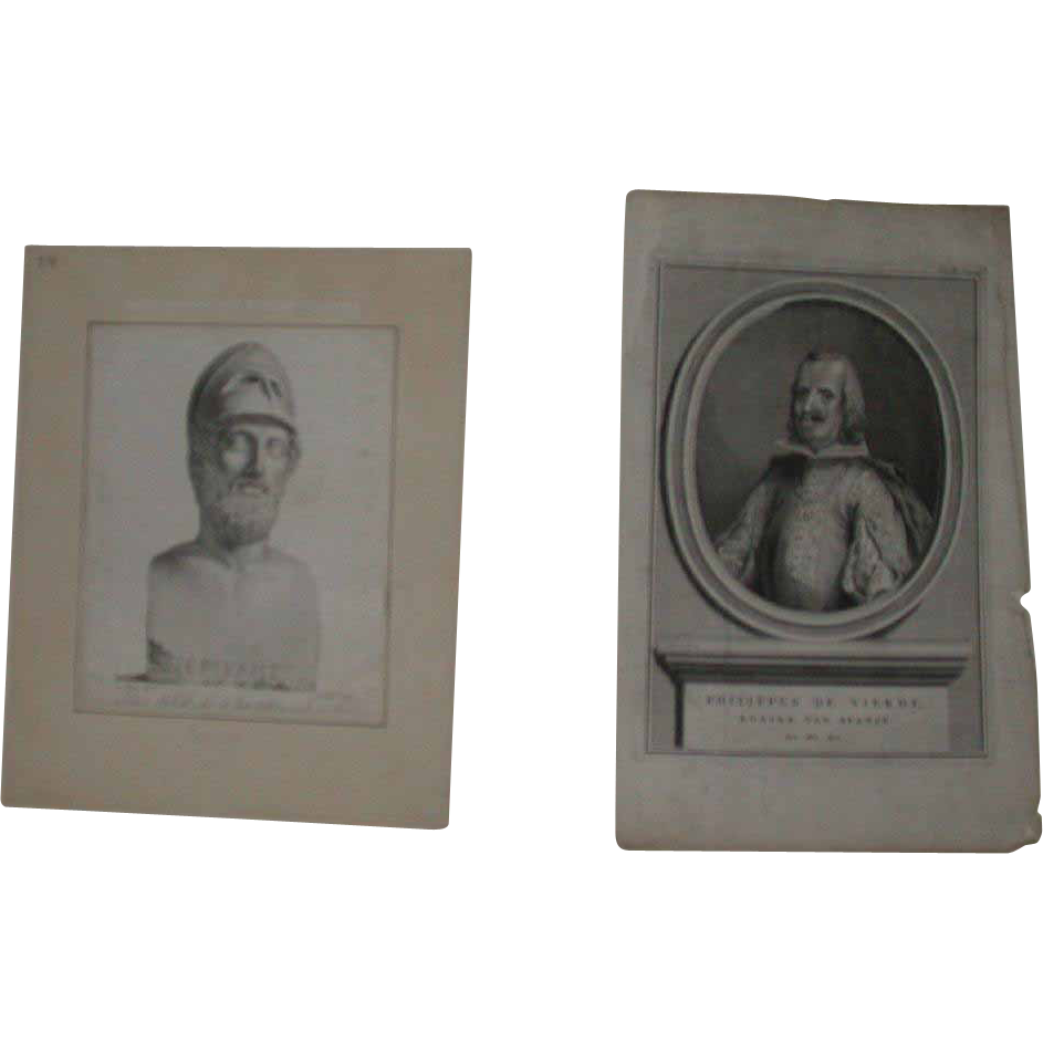 """Two 18th Century Prints - """"Pericles"""" and """"Phillip of Spain"""""""