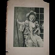 """Marvelous Antique Print of Miss Ada Rehan as Lady Teazle in """"The School For Scandal"""" by Ian van Beers, c 1894"""