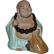 Chinese Mudman of Hotei With Beads and Parcel