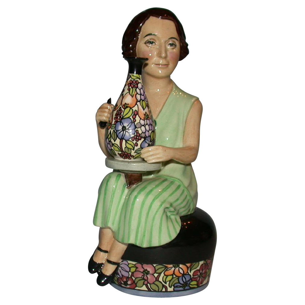 "Closed Limited Edition - Kevin Francis ""Charlotte Rhead"" modeled by sculptor Douglas V. Tootle"