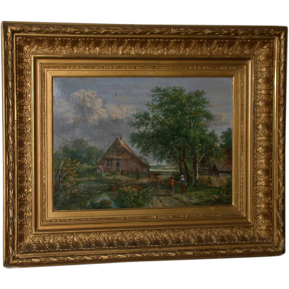 "Original 19th Century Oil, Landscape, signed ""W. Armons, 1883"""