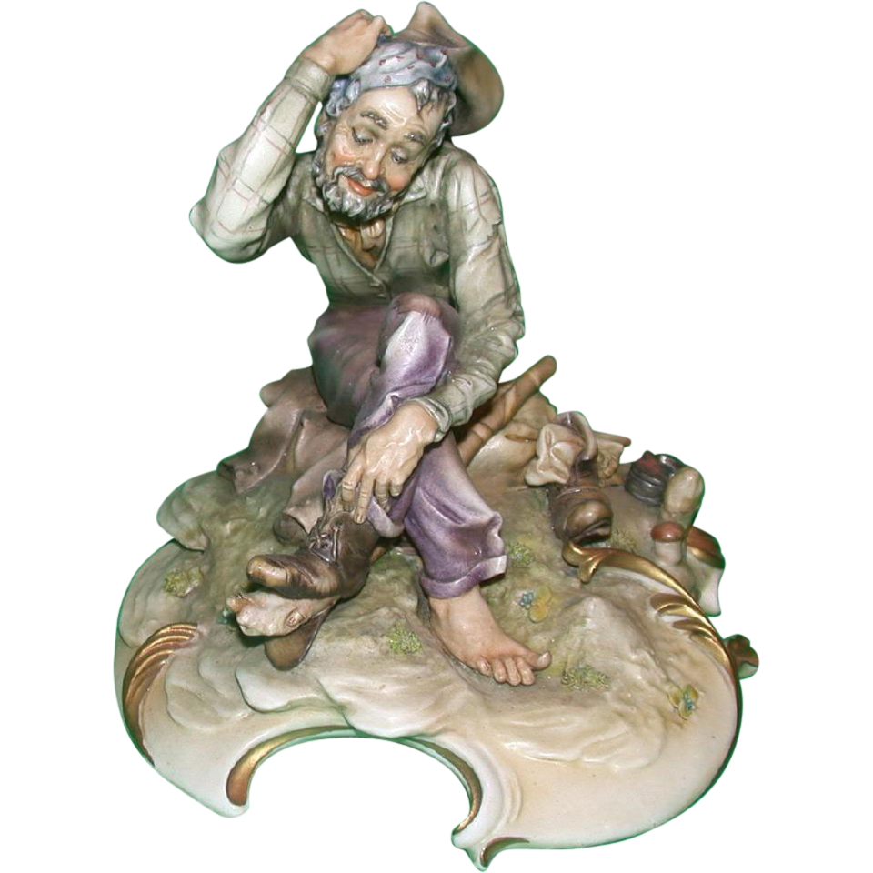 "Borsato - ""Foot Loose"" - Porcelain Sculpture -Great Detail - Subtle Humor!"