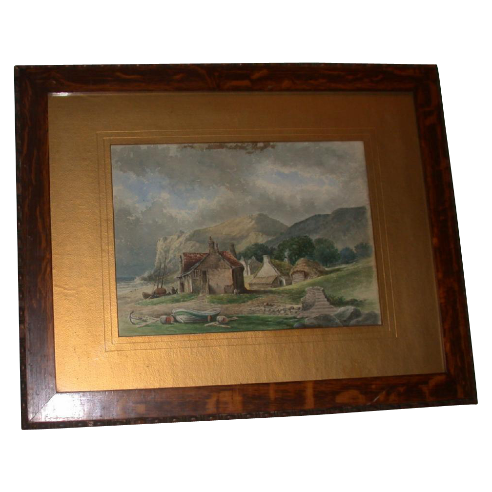 Original 19th Century Watercolor by Mylne -  Signed and dated, 1886