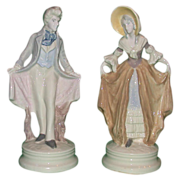 Pair Of Corday (Early Cybis) Hand-Painted Porcelains, c 1940