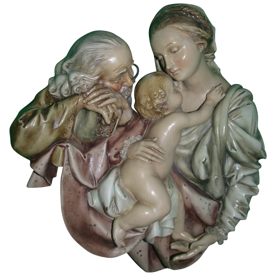 Borsato Sacred Family Large Wall Plaque - Simply Wonderful!