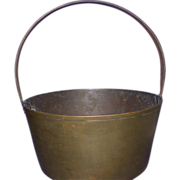 Antique Brass Pail, 19th Century, England