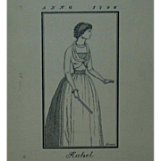 "Original Ink Drawing  ""Rahel Varnhagen"" by Erich M. Simon,  1910"