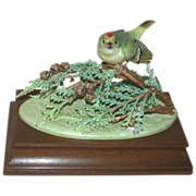 Royal Worcester - Ruby-Crowned Kinglet, Closed Limited Edition of Only 150, Modeled by James Alder c 1977