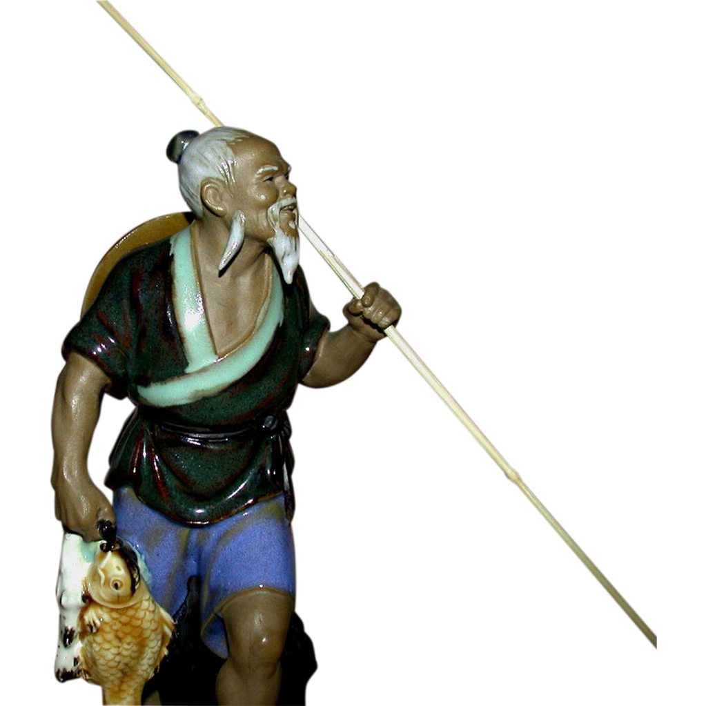 Chinese Mudman - Fisherman With Spear