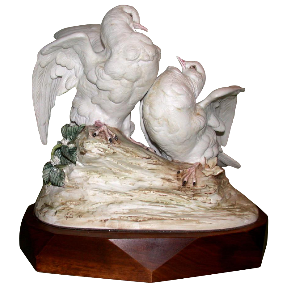 "Cybis - ""Turtle Doves, Doves Of Peace"" - Sold Out Limited Edition, c 1957"
