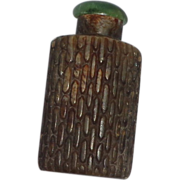 Unusual Antique Snuff Bottle - Soapstone With Corncob Pattern, c. 1900