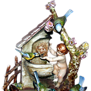 "Borsato - ""Angel Food"" - Absolutely Precious Multi-Figural Porcelain Sculpture"
