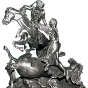 "Don Polland  (1932 - 2003) - Dramatic Pewter ""The Rescue"" -  Signed, Numbered, Closed Limited Edition"