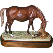 """Royal Worcester """"The New Born"""" by Doris Lindner, Signed and Numbered, Closed Limited Edition, c 1975"""