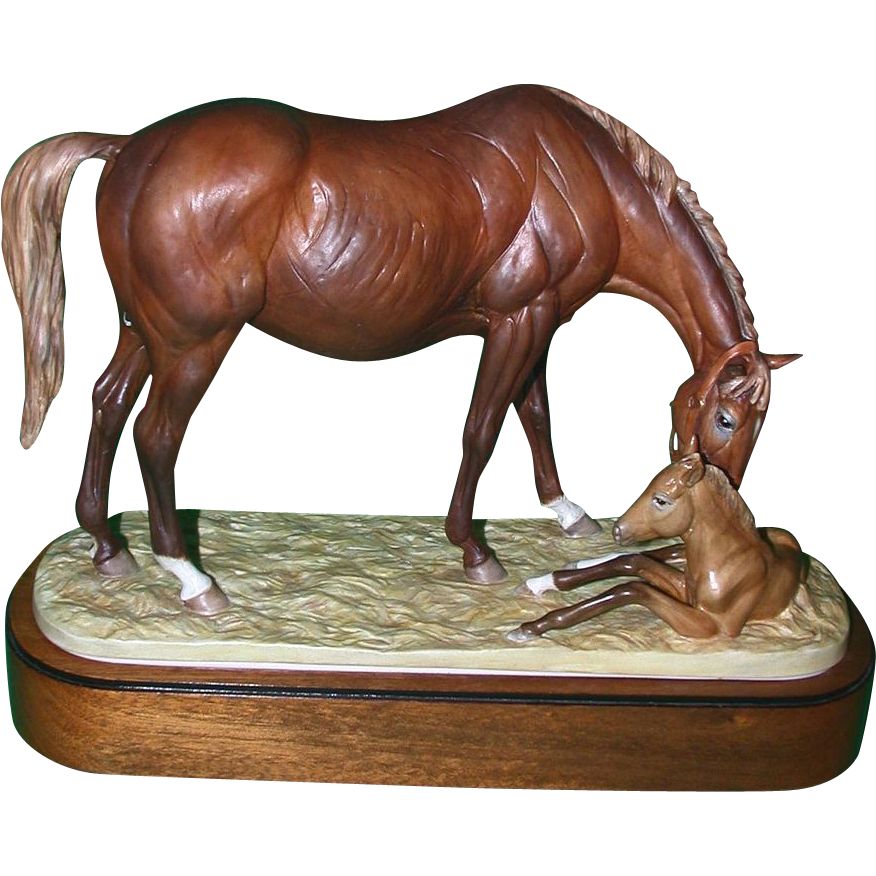 "Royal Worcester ""The New Born"" by Doris Lindner, Signed and Numbered, Closed Limited Edition, c 1975"