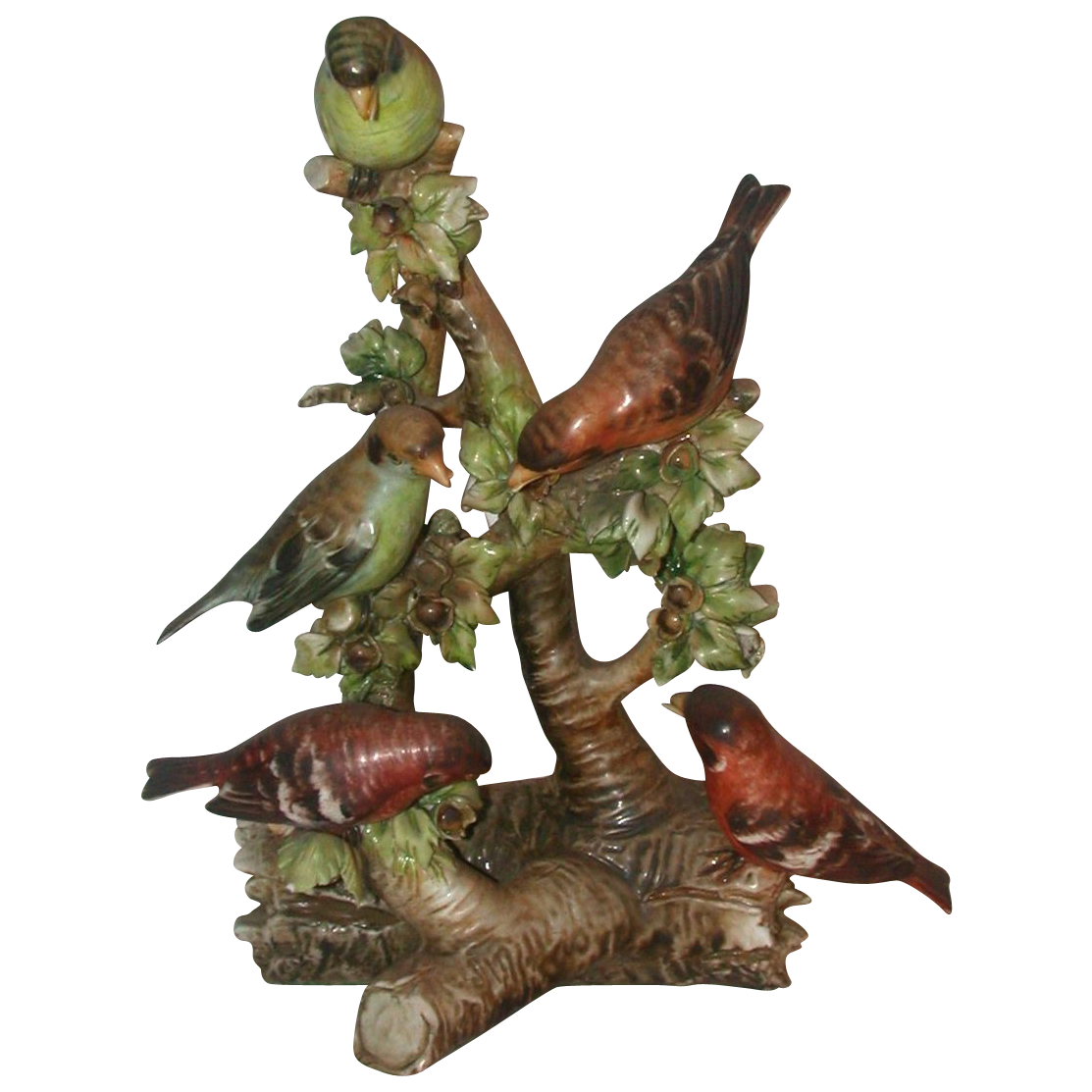 "Extremely Rare Borsato - Multi-Figural (FIVE Birds!) Porcelain Sculpture ""The Sentry"""
