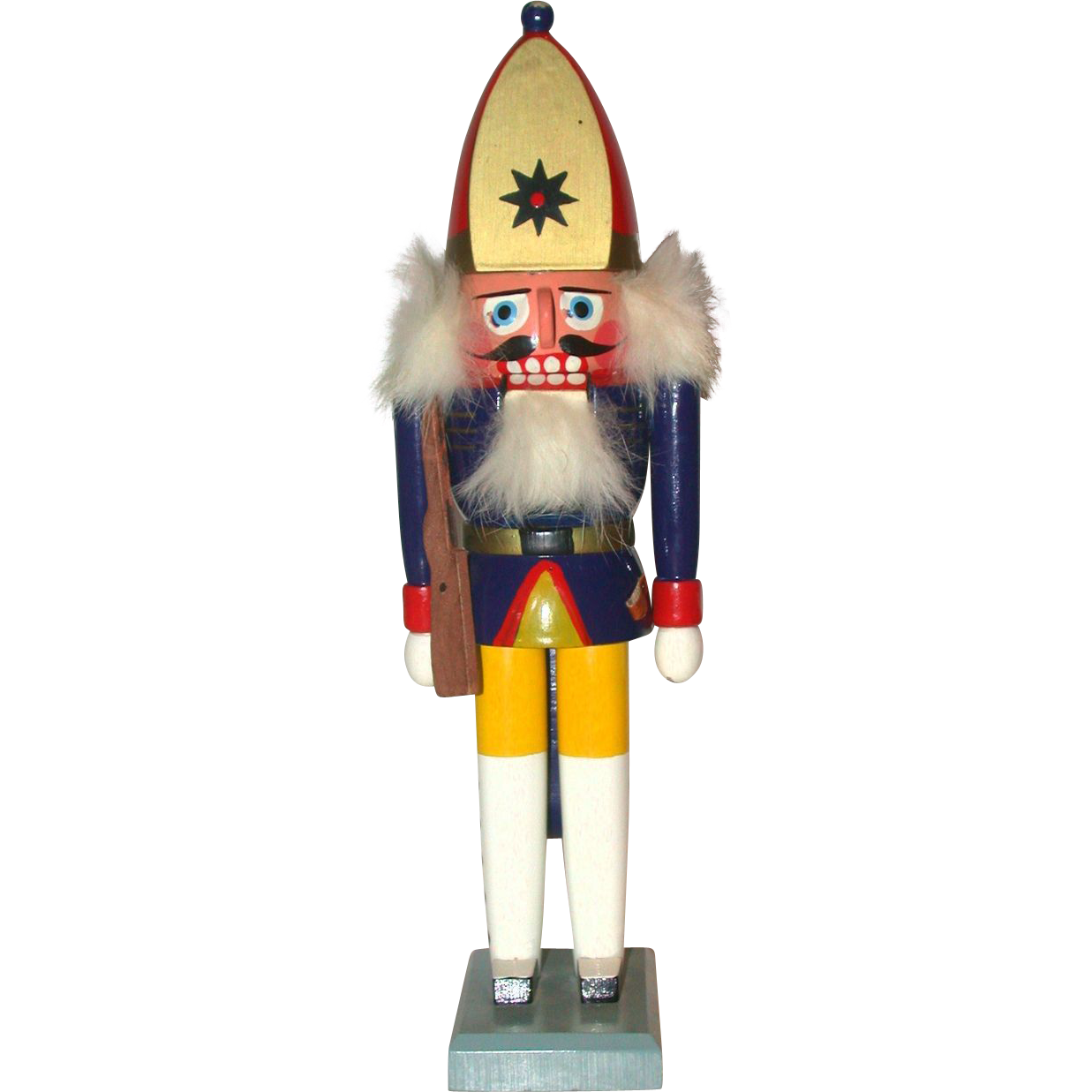 Vintage Erzgebirge Wooden Nutcracker Of Soldier  (Germany)