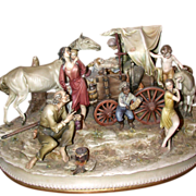 "Borsato -Magnificent  ""Gypsy Camp"" - One of the Master's Most Detailed Multi--Figural Porcelain Sculptures -  Capodimonte's Best!"