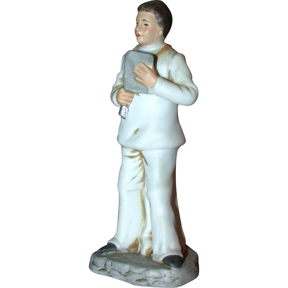 Bisque Porcelain Doctor Statue, Ayerst Pharmaceutical Co.