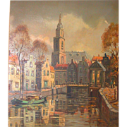 Original Oil On Canvas - Amsterdam Scene - Signed, Didier
