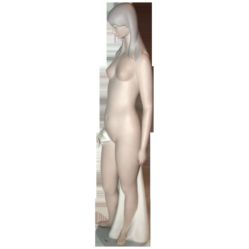 Lladro Nude, Bisque, Retired Edition - Sculptor Juan Huerta
