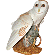 "Franklin Mint - ""The Barn Owl"" by George McMonigle - Fine Hand-Painted Porcelain Circa 1987"