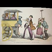 Grandville (Jean Ignace Isidore Gérard)  (1803 -  1847) - Les Métamorphoses du jour (1828–29) Plate LX -