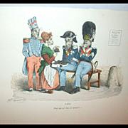 Grandville (Jean Ignace Isidore Gérard) (1803 - 1847) - Les Métamorphoses du jour (1828–29) Plate XXXL