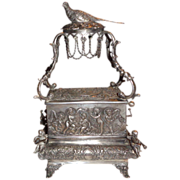Antique Sterling Silver Singing Bird Music Box, circa mid 1800s - Incredible!