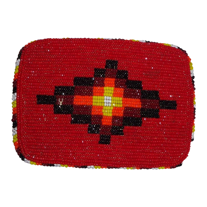 LARRY HAGMAN'S ESTATE - Native American Beaded Belt Buckle