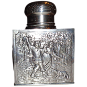 Weinranck & Schmidt, Hanau, Germany, Silver Repousse Bottle, Circa 1890