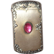 Kerr Silver, Gilt And Hardstone Match Safe (Vesta) Circa 1890