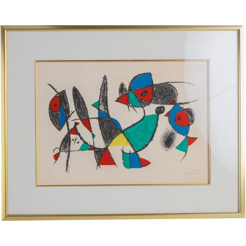 "Joan Miro (1893 - 1983) - ""Le Petite Animales"" - Signed and Numbered, Circa 1975"