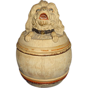Antique Johann Maresch Humidor, Austria, Circa 1880 - Great Dog Head!