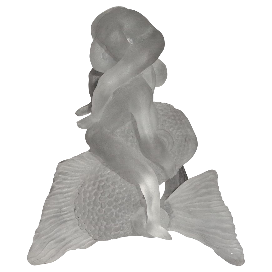 "Barry Sautner ""Aquatic Acrobats"" - Incredible Sand-Carved Glass Sculpture"