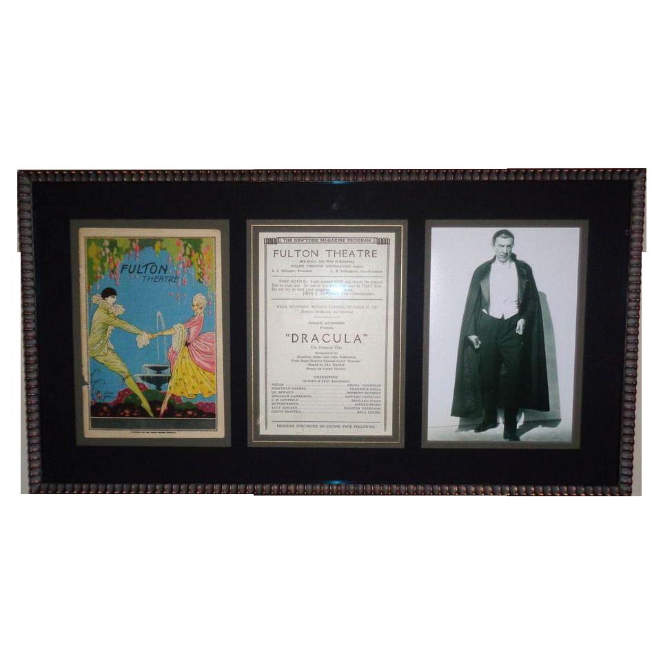 """Dracula"" starring Bela Lugosi, Original Playbill For The Fulton Theatre, c. 1927"