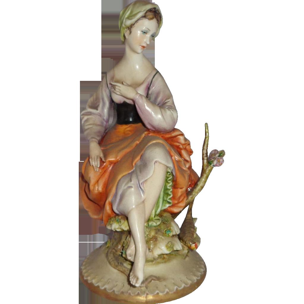 "Borsato - ""Sylvan Beauty"" - Wonderful Example of The Porcelain Magic of Antonio Borsato!"